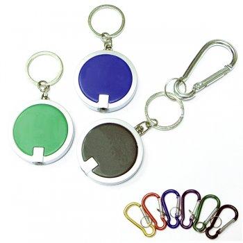 Customized Coaster Shape Round Flashlight Keychains