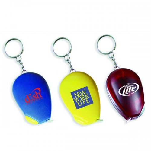 Personalized Computer Mouse Shape Tape Measure Keychains