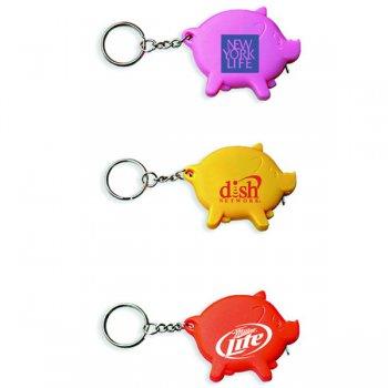 Pig Shape Tape Measure Keychains