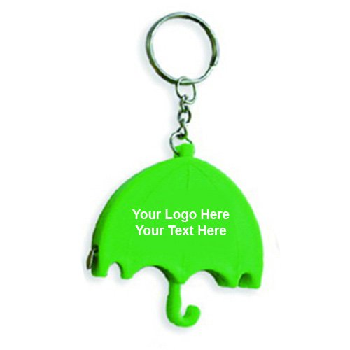 Personalized Umbrella Shape Tape Measure Keychains