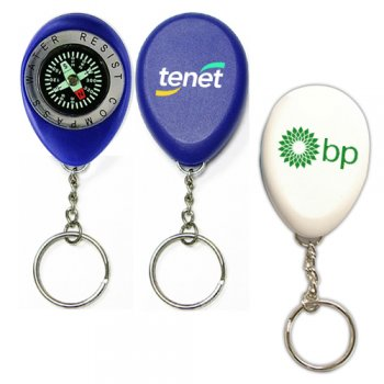 Personalized Oval Shape Compass With Swivel Keychains