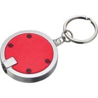 Custom Disc Light Keychains  - Translucent Red
