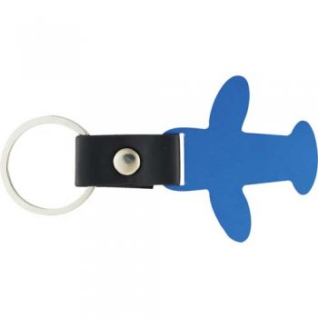 Promotional Airplane Keychains - Blue