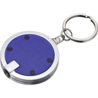Promotional Disc Light Keychains - Translucent Blue