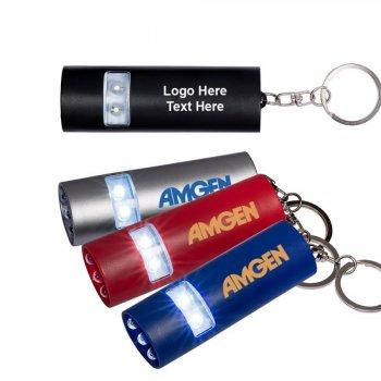 Promotional Dual LED Mini Flashlight Keychains