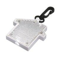 Custom House Shape LED Blinking Keychains - Clear