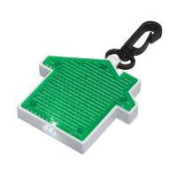 Promotional House Shape LED Blinking Light Keychains - Green
