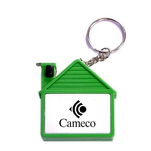 Custom House Shape Tape Measure Keychains