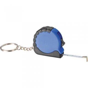 Custom Pocket Pro Mini Tape Measure with Keychains - Blue