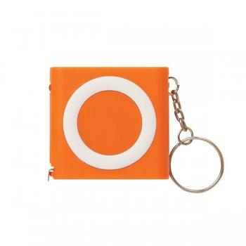 Custom Revolution Tape Measure Keychains - Orange