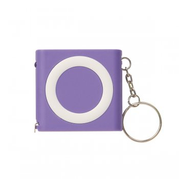 Customized Revolution Tape Measure Keychains - Purple