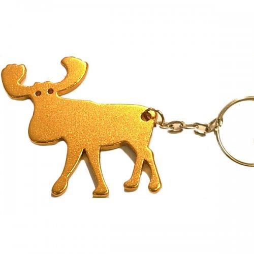 Custom Elk Shape Bottle Opener Keychains