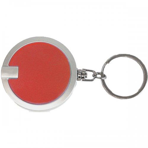 Promotional Coaster Shape Round Flashlight Keychains