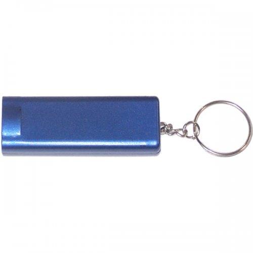 Custom Slim Rectangular Flash Light With Compass Keychains