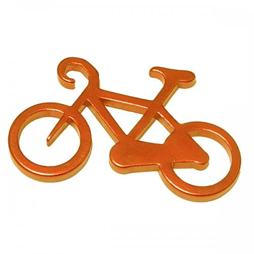 Custom Bicycle Shape Bottle Opener Carabiner with Key Holder
