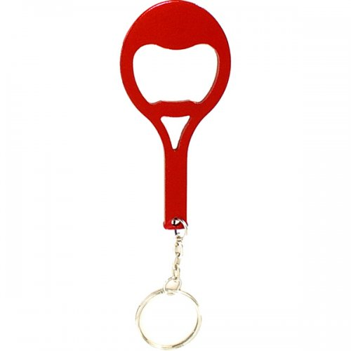 Custom Tennis Racket Shape Bottle Opener With Keychains Holder