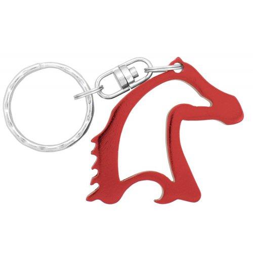 Custom Imprinted Horse Head Shape Bottle Opener Metal Keychains