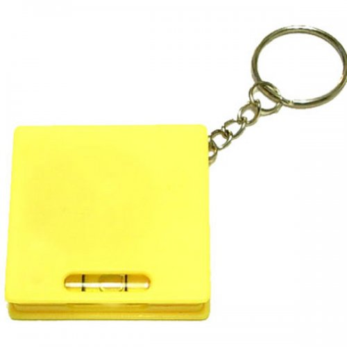 Customized Square Tape Measure with Level Keychains