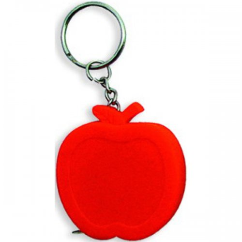 Personalized Apple Shape Tape Measure Keychains