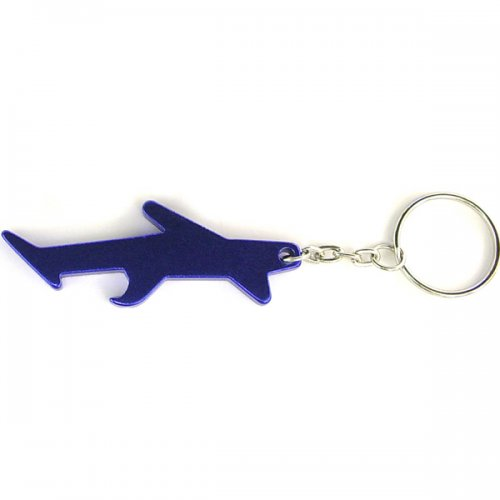 Personalized Plane / Aircraft Shape Bottle Opener Transportation Keychains