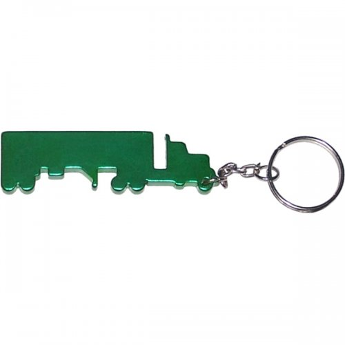 Personalized Truck Shape Bottle Opener Transportation Keychains