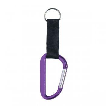 6mm Custom Carabiner keychains- Purple