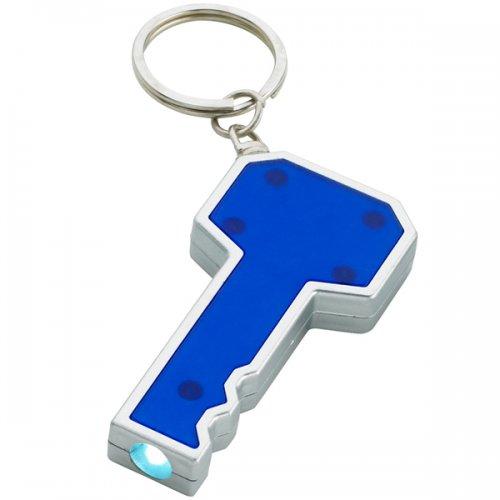 Custom Key Shape LED Keychains - Blue