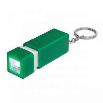 Custom Square LED Keychains - Green