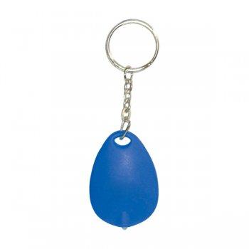 Custom Tear Drop Mini Light Keychain Tags - Blue