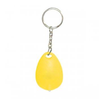Custom Tear Drop Mini Light Keychain Tags - Yellow