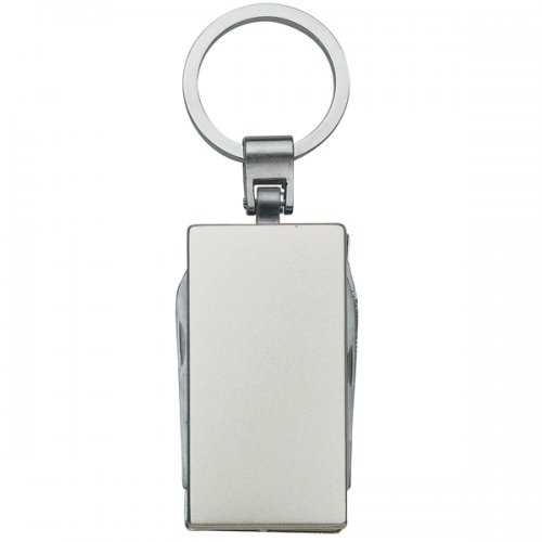 Customized 5 In 1 Multi-Function Aluminum Keychains - Silver