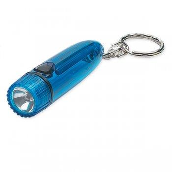 Customized Cylinder Light/ Keychains - Translucent Blue