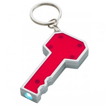 Customized Key Shape LED Keychains - Red