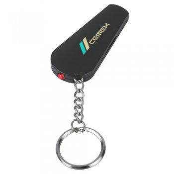 Customized Whistle Light/ Keychains - Black