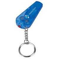 Customized Whistle Light/ Keychains - Translucent Indigo Blue