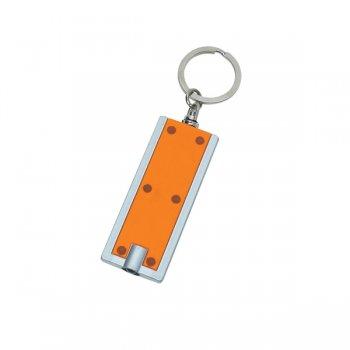 Personalized Rectangular LED Keychains - Orange