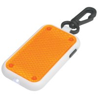 Personalized Tri-Function Blinking Light Keychains - Orange