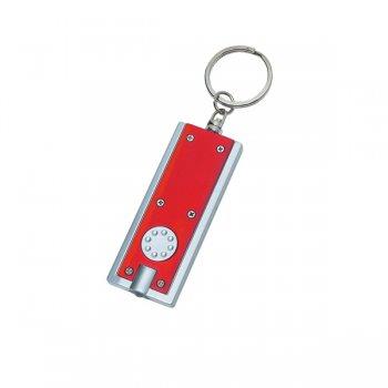 Promotional Rectangular LED Keychains - Red