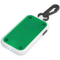 Promotional Tri-Function Blinking Light Keychains - Green