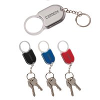 Custom Printed Magnifying Glass and Light Keychains