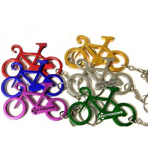 Customized Bicycle Shape Bottle Opener Transportation Keychains
