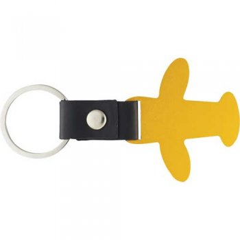 Personalized Airplane Keychains - Gold