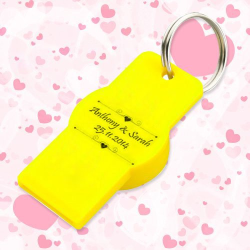 Customized Keychains With Twist-Top Bottle and Can Opener - Yellow