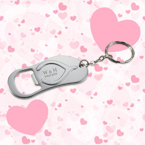 495b30f41cbadd Keychain Wedding Favors Flip Flop Bottle Opener - Silver - Wedding  Keychains - Shop by Theme