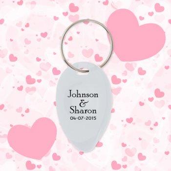 Wedding Favors Tear Drop Shape Keychains w/ Lottery Scratcher - White