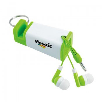 Phone Amplifier Keychain with Earbuds